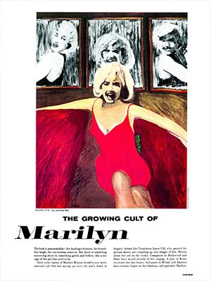 Marilyn Triptych Life Magazine James Francis Gill Premium Modern Art