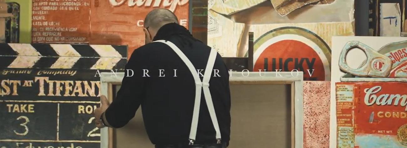 Andrei Krioukov Premium MOdern Art Banner Videobutton
