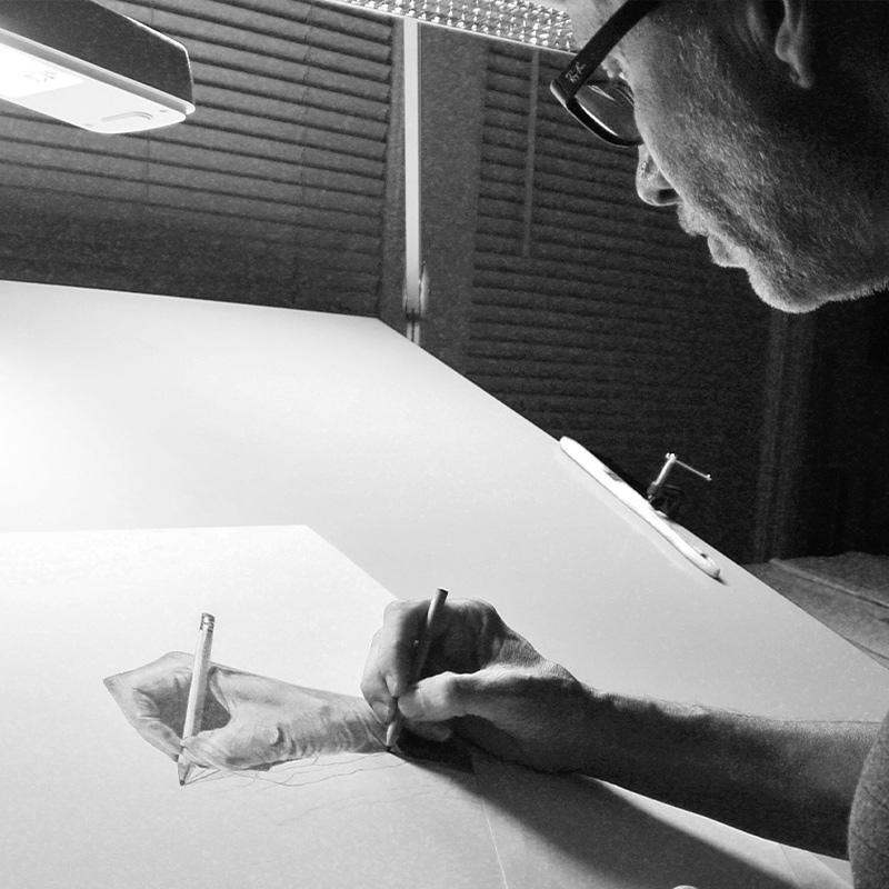 Dan Pyle at Work in his Studio Premium Modern Art